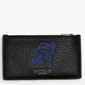 Coach Marvel Zip Card Case Black Panther